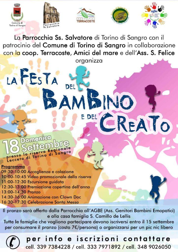 18 settembre 2016 - Festa del Bambino e del Creato