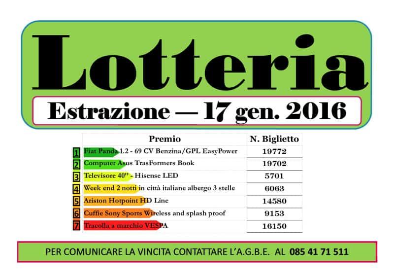 Lotteria AGBE 2015