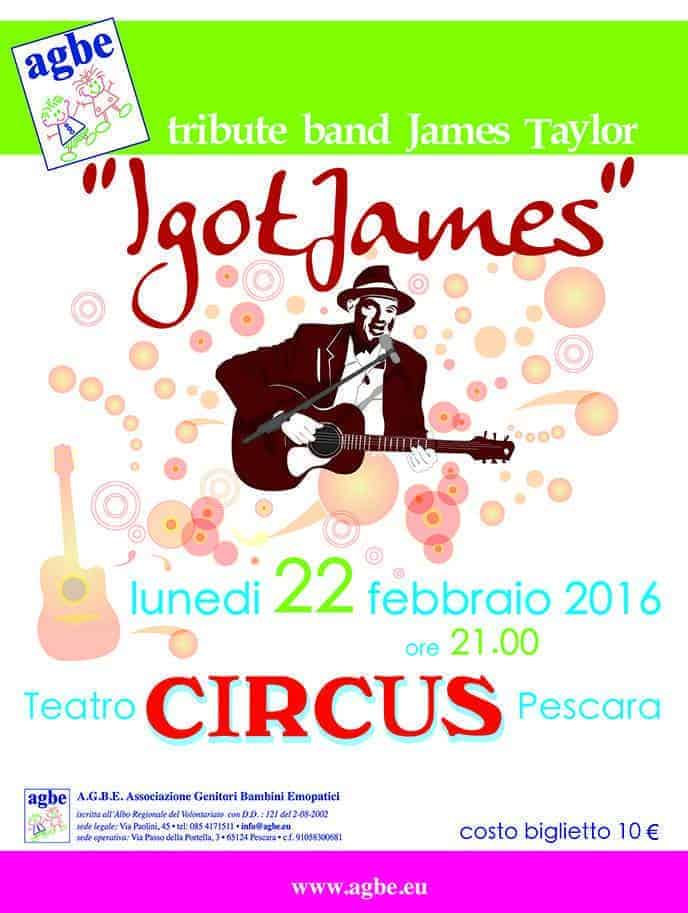 22 febbraio 2016 - Tribute Band James Taylor