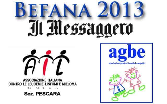06 gennaio 2013 - Aggiornamento Befana 2013 - l'AGBE con Messaggero ed AIL