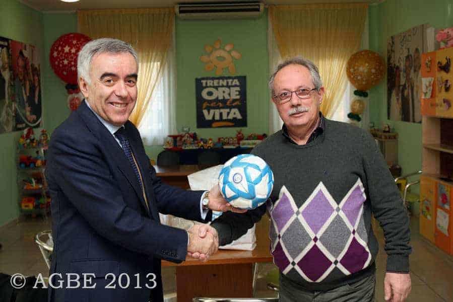 02 marzo 2013 - Il Presidente Nazionale - Divisione Calcio a 5 - in visita all'AGBE
