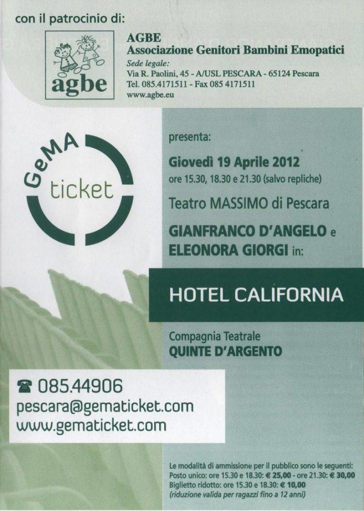 19 aprile 2012 - Hotel California