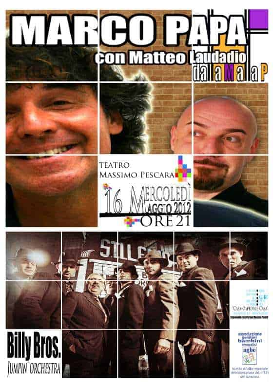 16 maggio 2012 - Marco Papa & Billy Bros. Jumpin' Orchestra