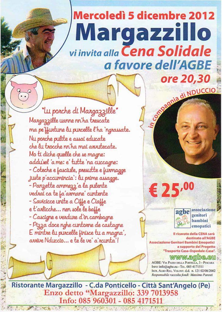 5 dicembre 2012 - Cena Solidale a favore dell'AGBE