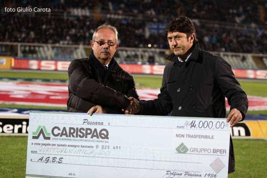 12 Novembre 2011 - Pescara Calcio per l'AGBE