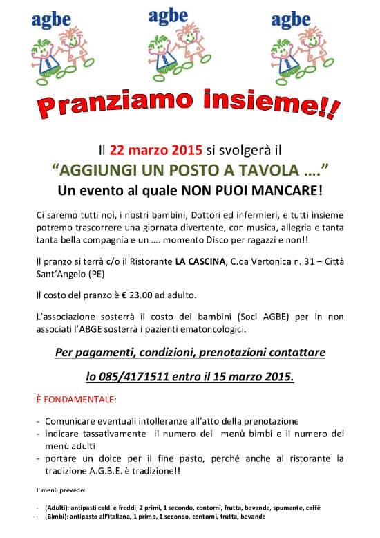 22/03/2015 - Pranziamo Insieme