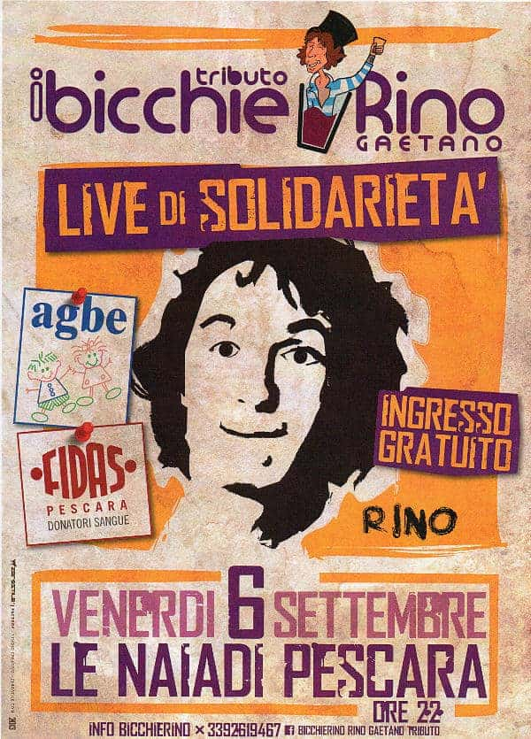 Live di Solidarietà - AGBE, Fidas e..... I BicchieRino
