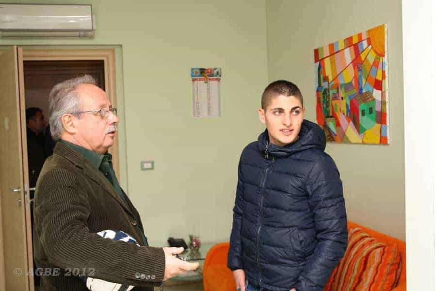 23 dicembre 2012 - Verratti Marco in visita all'AGBE