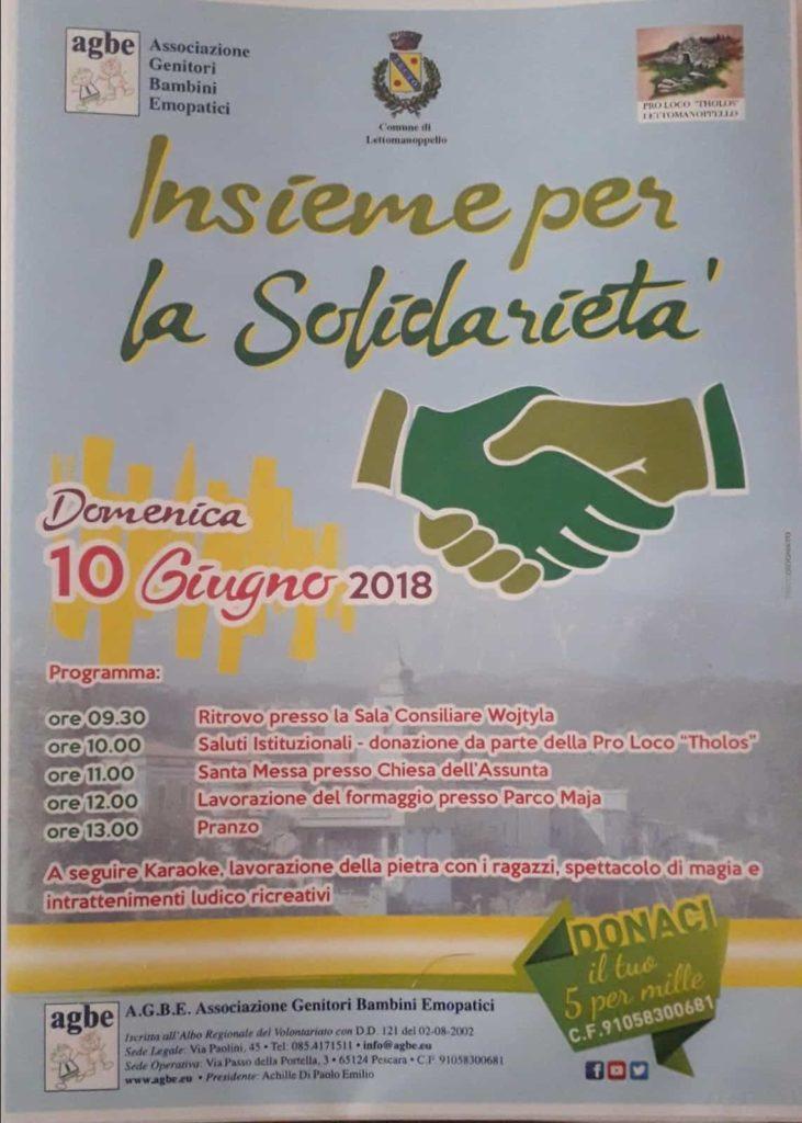 AGBE a Lettomanoppello: insieme per la solidarietà