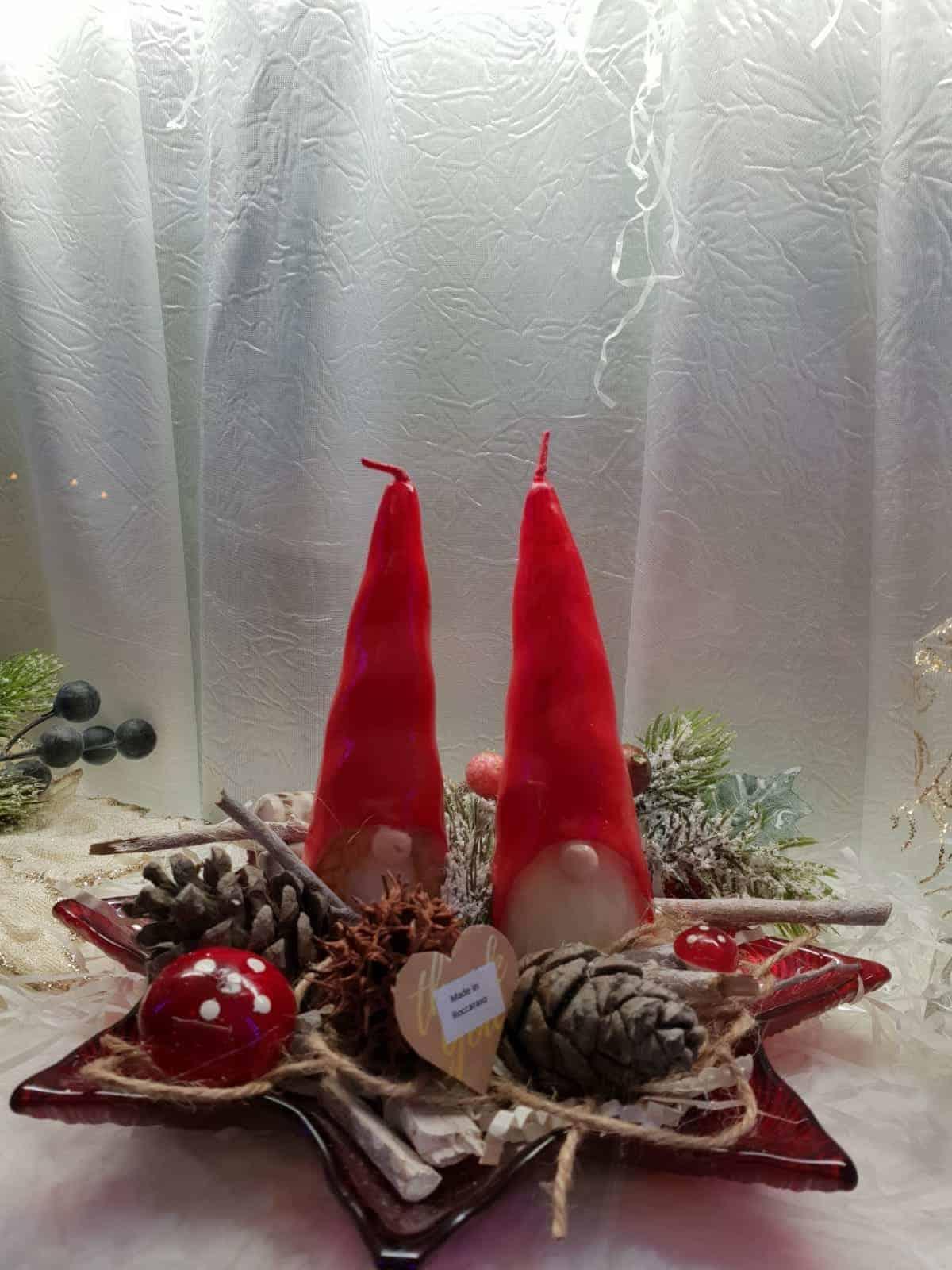 Candele natalizie per AGBE