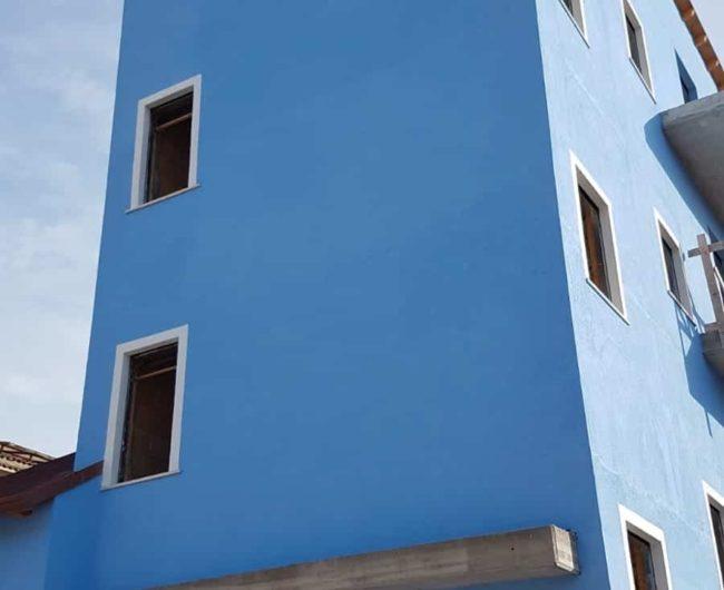 Lato della nuova casa AGBE a Pescara (PE)