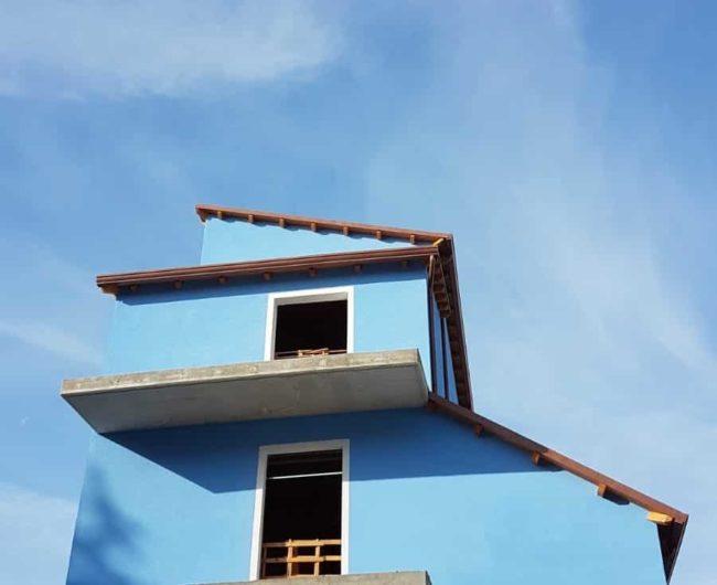 Foto della facciate della nuova casa AGBE in costruzione