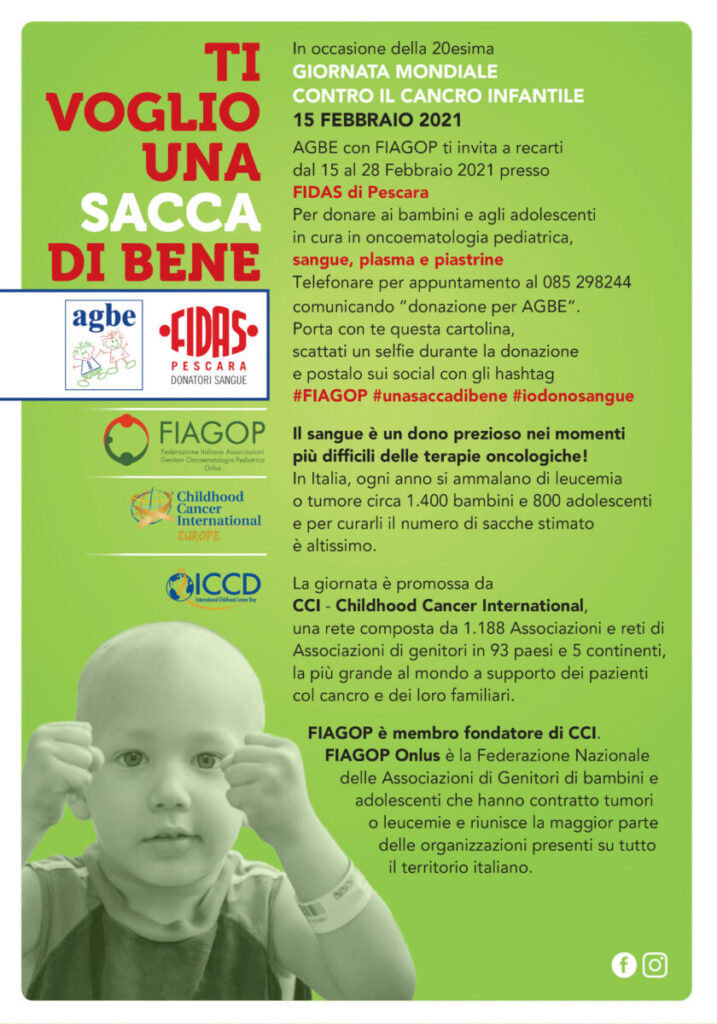 XX Giornata Mondiale contro il cancro infantile