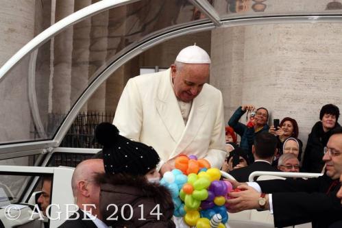 Web  54 120214 Udienza Papa Francesco